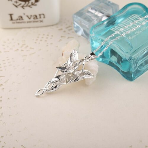 Jewellery Lord of The Rings Hobbit Arwen Evenstar Clear Crystal Pendant Necklace