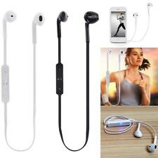 Bluetooth Headset Stereo Sport Headphone Earphone for iPhone Samsung HTC-White