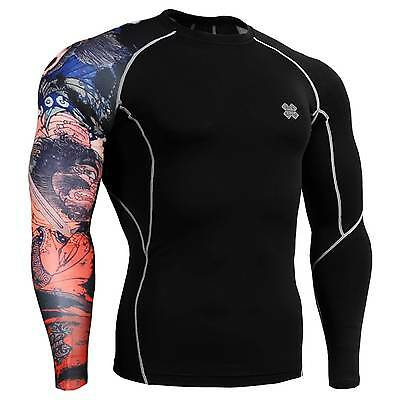 FIXGEAR CP-B28 Skin Tights Compression Under Shirts Fitness GYM MMA Workout