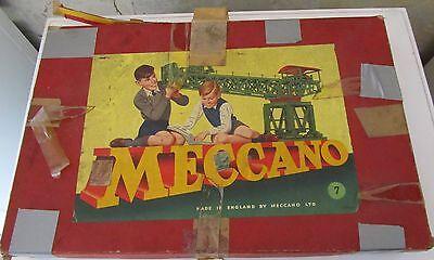 Frugale Grande Lotto Meccano Set 7 Made In England E Il Costruttore Bral Con Istruzioni