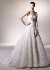 Robe de mariee avec bustier et jupe