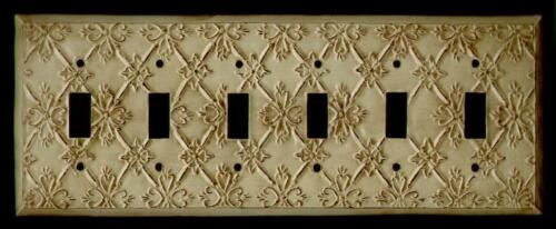 ANTIQUE ORNATE LIGHT SWITCH PLATE 6 Z-14 SWITCH