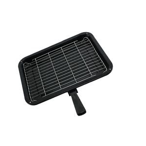 Small-Single-detachable-Handled-Enamelled-Grill-Pan-for-Stoves-Oven-Cooker