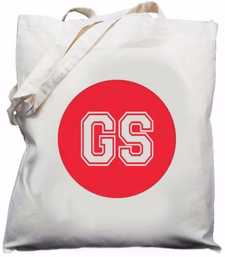 GS Player Netball Goal Shooter Natural Cotton Shoulder Bag