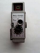 Bell & Howell 323 8mm&10mm Movie Camera 1950's With Case~Looks New~Vintage