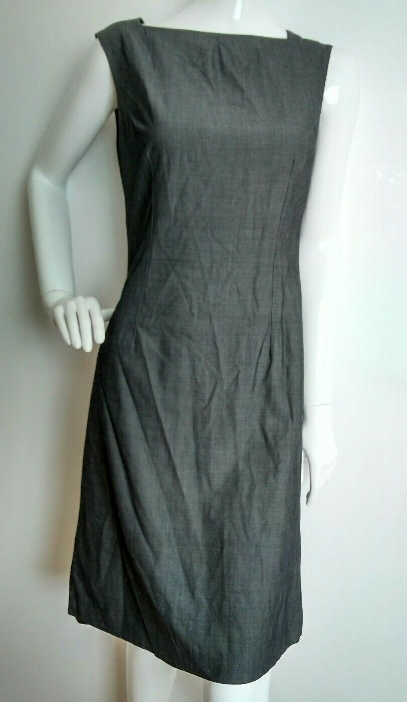 HOBBS fitted shift dress size 12 knee length mid grey