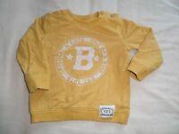 F&F Boys Girls Unisex Yellow Long Sleeve Jumper Size 9-12 Months