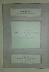 1976 Catalogue Di Vendita SOTHEBY'S London Old Master Paintings