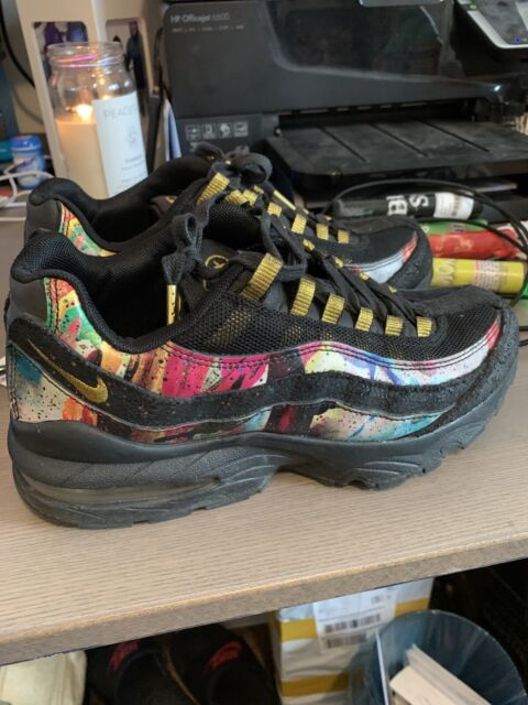 Boys Adult Owned Nike Air Max 95 Caribana Size 5.5 Black for sale ...