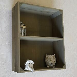 shabby chic wall unit crate shelf storage display cabinet kitchen