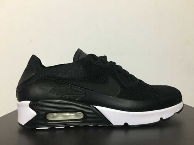 1f12ddc0678f2f Nike Air Max 90 Ultra 2.0 Flyknit Black White Mens Running Shoes ...