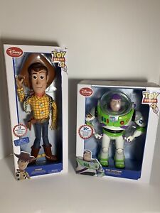 Disney-Toy-Story-4-TalKing-Woody-amp-BUZZ-Lightyear-16-034-Action-figure-Toys-NEW