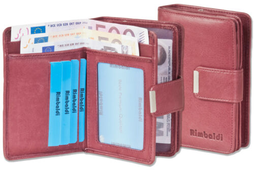 Compact And Modern Women's Wallet From Soft Leather In Maroon