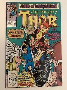 The-Mighty-Thor-412-1st-Full-App-New-Warriors-Marvel-Comics-1989-Key-Issue