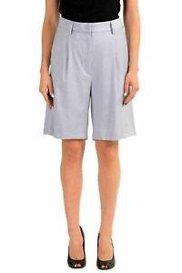 Maison-Margiela-MM6-Wool-Purple-Women-039-s-Pleated-Shorts-US-M-IT-42