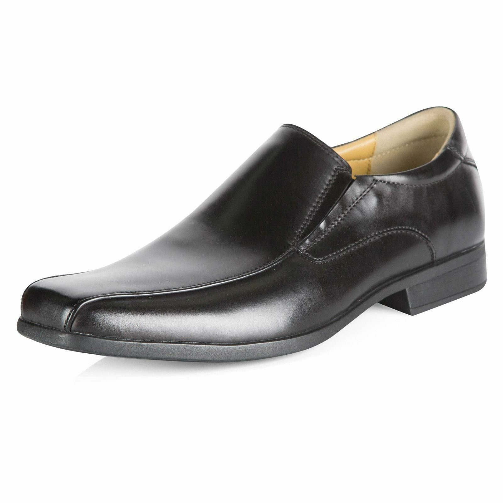Steptronic Welling ( Williams)  Mens Leather Gusset Slip On Black Formal Gusset Leather Shoes. 752eef