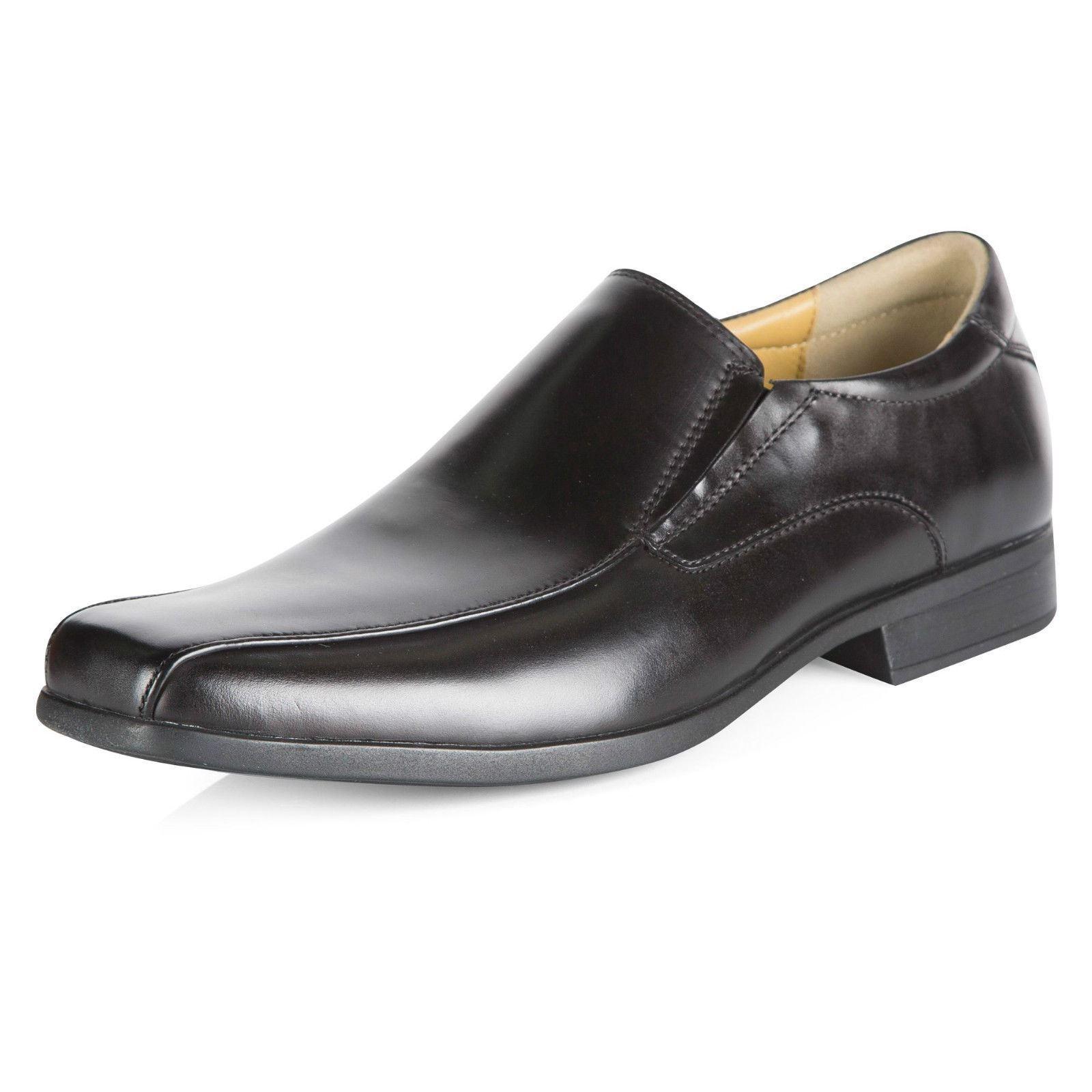 Steptronic Welling ( Williams)  Mens Leather Slip On Black Formal Gusset Shoes.