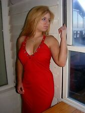 NWT CHERLONE SEXY LONG RED BOHO BALL PROM EVENING DRESS 12/14