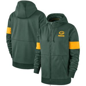Green-Bay-Packers-Hoodies-Salute-to-Service-Sideline-Performance-Sweatshirts