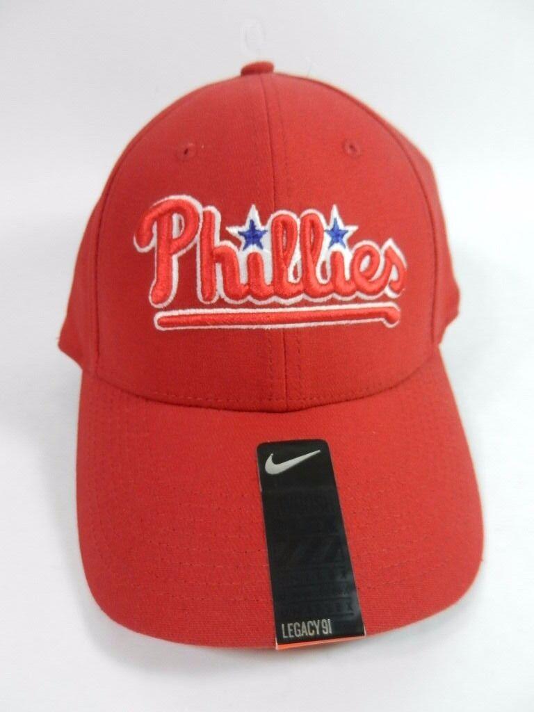 Philadelphia Phillies MLB Nike Legacy 91 Cap Hat / Swoosh Flex Fit M / Hat L Red New 7a614d