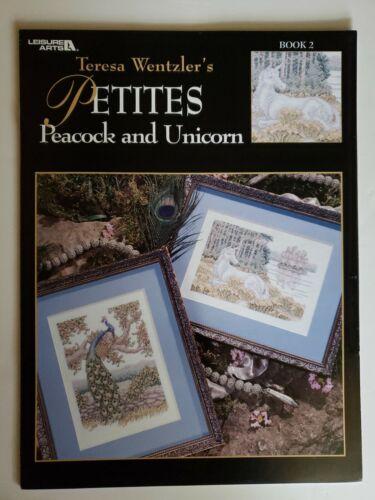 407 Cross Stitch Pattern Leaflet Teresa Wentzlers Petites Peacock /& Unicorn LA
