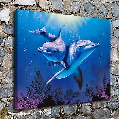 dolphin HD Canvas print Painting Home Decor Picture Room Wall art Poster 6335