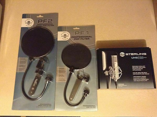 NEW Sterling Audio Bundle STPF1, STPF2, & UMS (Utility Microphone Shield). Available Now for 100.00