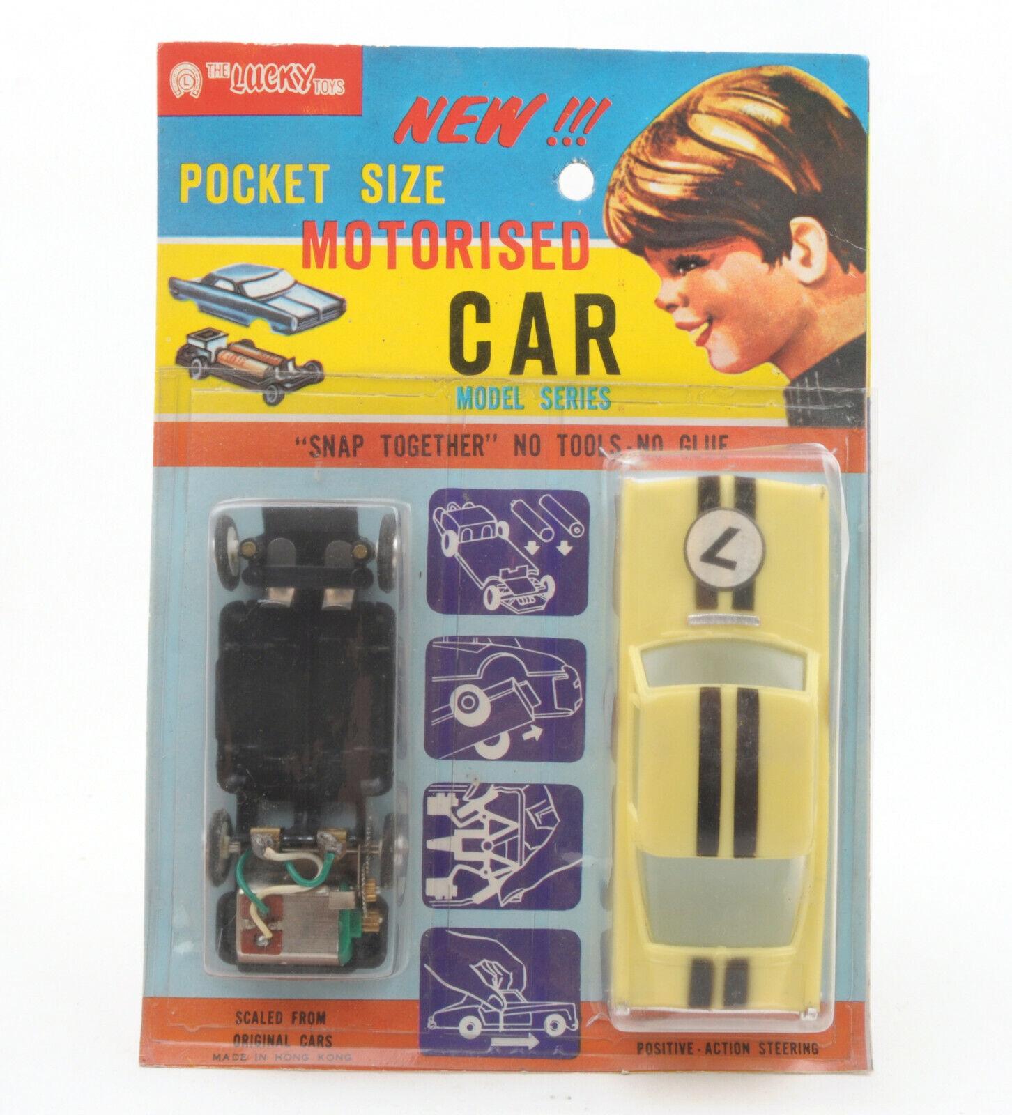 Vintage Lucky Toys Toys Hong Kong Plastic Pocket Sized Motorised Car  MOC