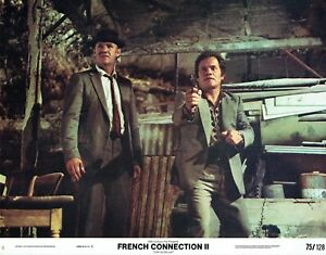80264140309 FRENCH CONNECTION II, orig mint 1975 Lobby Card, Gene HACKMAN is ...