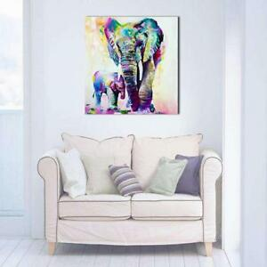 Wall-Art-Handmade-Elephant-Abstract-Knife-Oil-Painting-On-Canvas-Wall-Picture-W