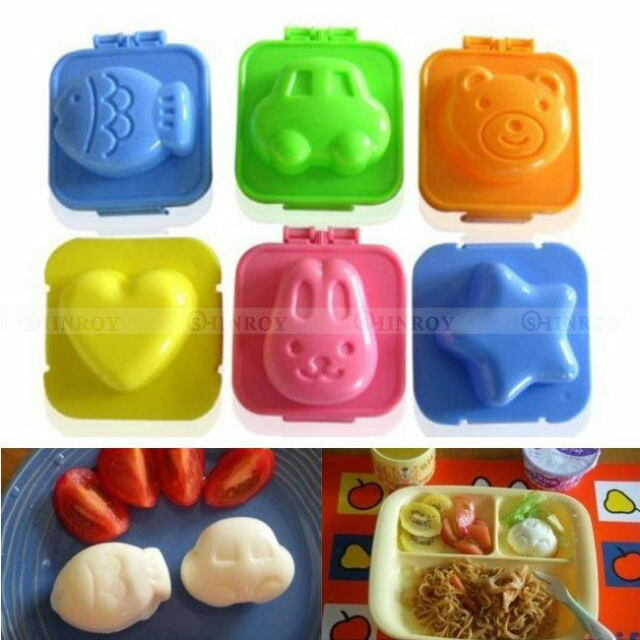 6Pcs/2Pcs to select Cute Boiled Egg Sushi Rice Mold Bento Maker Sandwich Cutter