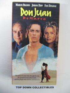 Details about Don Juan DeMarco, Marlon Brando, Johnny Depp, Faye Dunaway  VHS Movie