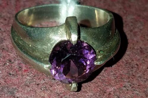 Purple gemstone ring AMETHYST