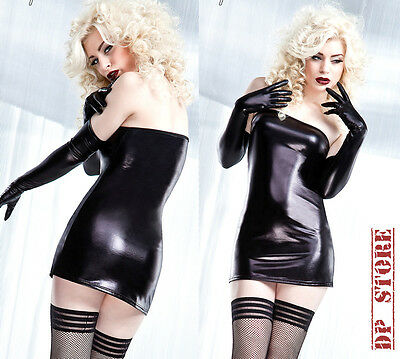 DARQUE SEXY GOTHIC FETISH DOMINATRIX VINYL RUBBER PVC VAMPIRE GOTH DRESS D948