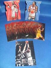1997-98 FLEER BASKETBALL - ROOKIE REWIND & TOWER of POWER (13) NBA INSERT CARDS