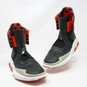 newest 26131 8c005 Y-3 Y3 Black and Red Adidas 2016 Noci 0003 High-top Sneaker sz 7.5 ...