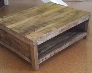 Rustic Wooden Coffee Table Shabby Chic Vintage Retro Furniture 1 Storage Shelf Ebay