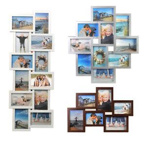 Bilderrahmen schwarz o weiß 10 Bilder 10x15 Multi Foto Rahmen Galerie Collage