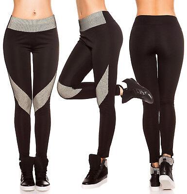 Legging Femme Sportswear Bicolore Noir CrÈme Top Sexy Pantalon T.s/m Ou L/xl
