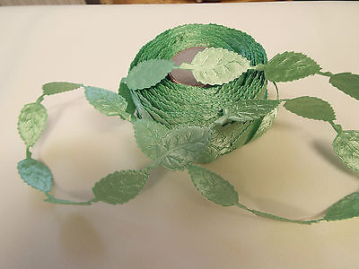 Satin Lace Ribbon 2m Green,Daisy Flower Motif Trimmings,Wedding Apllique