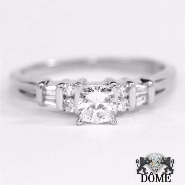 Alliance Bague de fiançaille mariage diamant solitaire OR white 18K 750 3150E