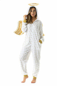 5ba6764556 Image is loading 6451-L-FollowMe-Adult-Onesie-Womens-Pajamas