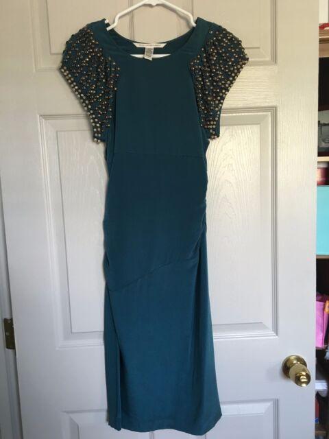 086fffcc1 Diane Von Furstenberg DVF Silk Sheath Dress 2 Neiman Marcus Retail $350
