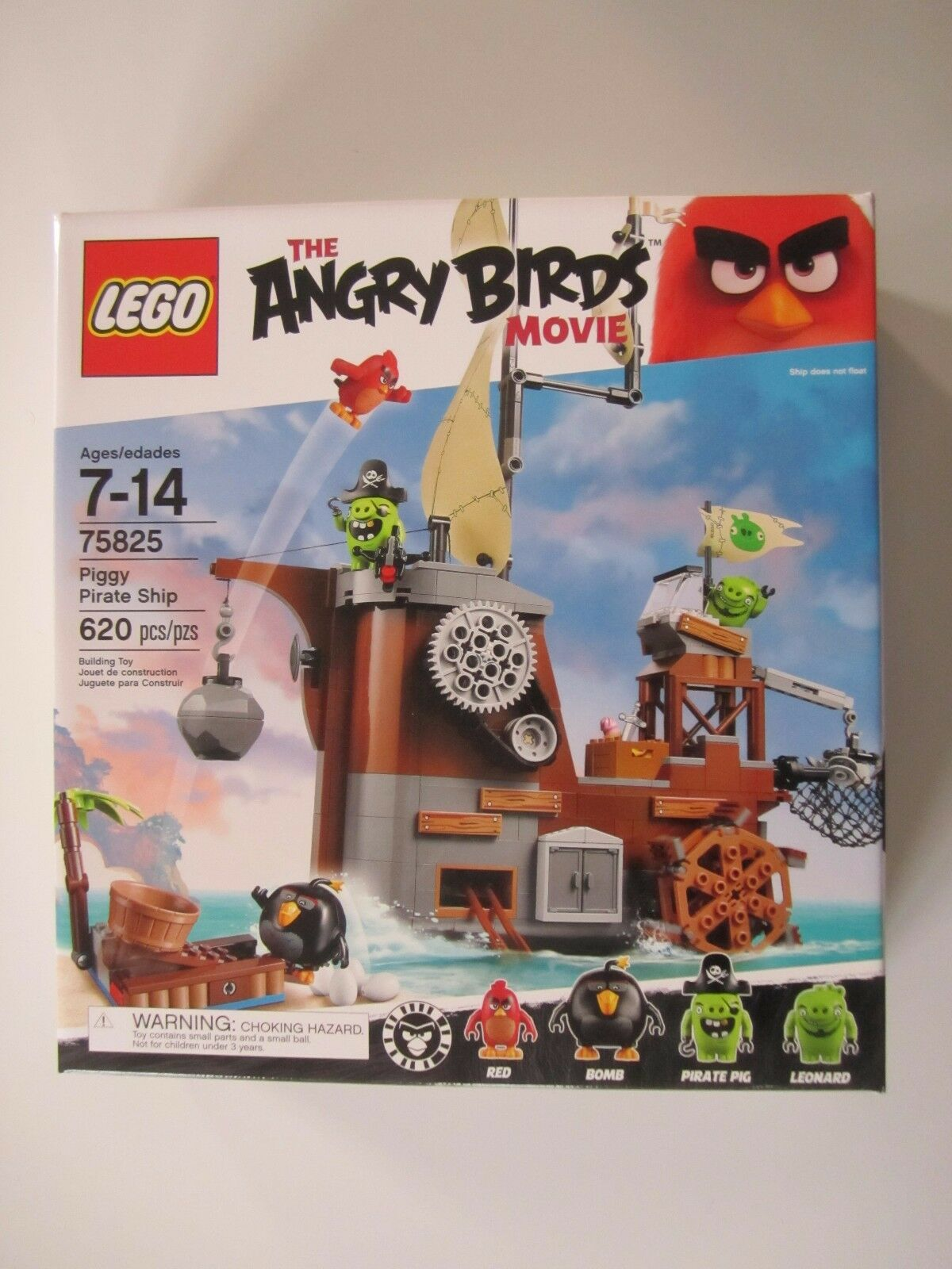75825 LEGO The Angry Birds Movie Piggy Pirate Ship 620 Pieces Sealed New in Box