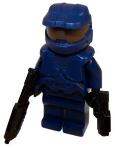 BLOOD RED HALO SPARTAN Master Chief Xbox Game Minifigure **NEW** LEGO Custom
