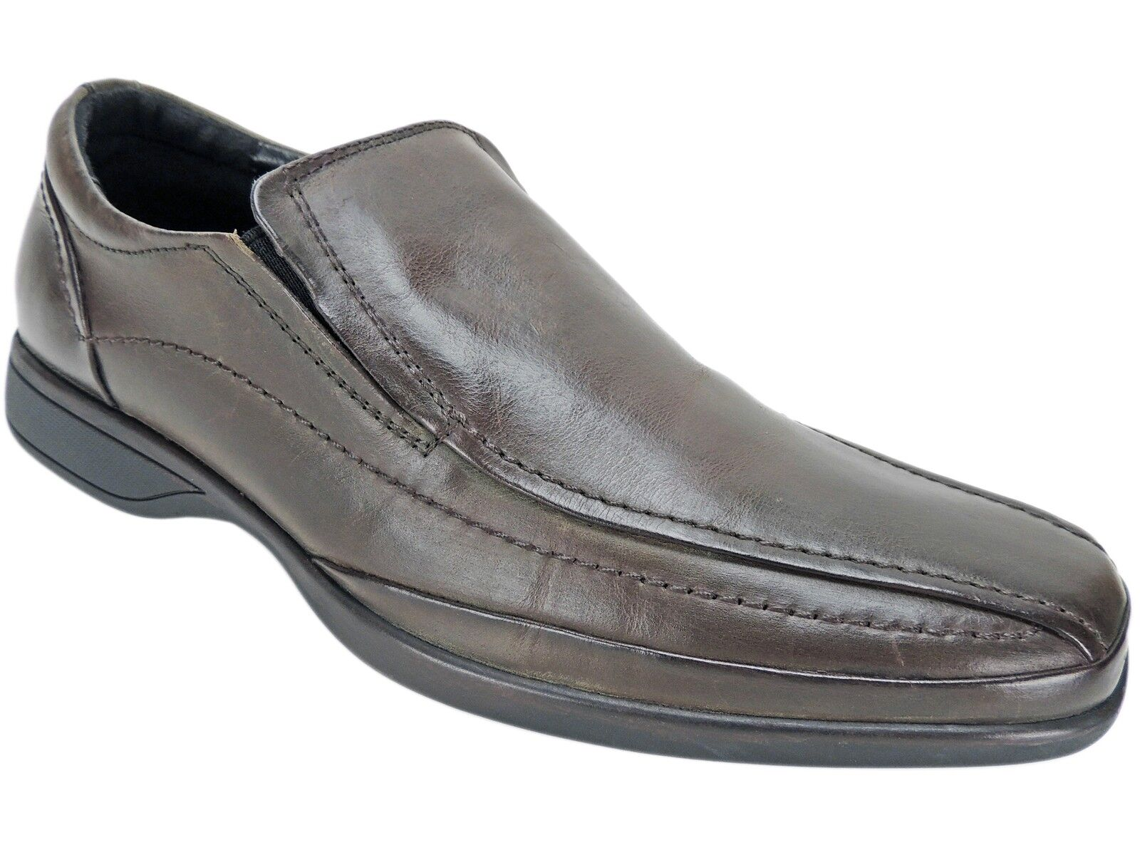 Kenneth Cole Reaction Men's Strong Bunch Slip-On Loafer Brown Leather Size 7 M