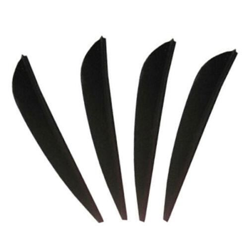 AAE Elite plastifletch Aubes 16 noir-Pack de 100