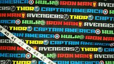 Kids flannel fabric Thor Hulk Iron Man Avengers cotton quilt sewing material BTY