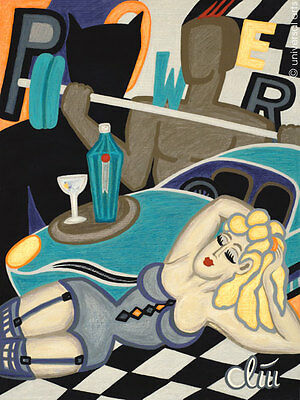 JACQUELINE DITT - Be My Black Knight A4 DRUCK n.Gemälde Batman art Bilder Giclee