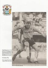 SEAN FLYNN COVENTRY CITY 1991-1995 ORIGINAL HAND SIGNED PICTURE CUTTING